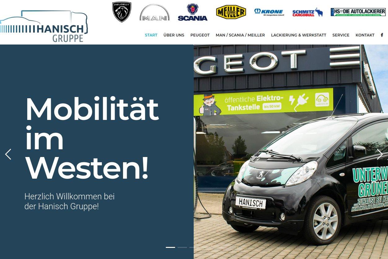 Neue Webseite online! | Aktuelles @ Hanisch Gruppe